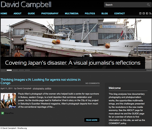 David Campbells blog commentary on photojournalism